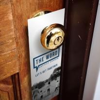 Door hanger 1/2 A4 (10,5 x 29,7 cm) stanta cruce