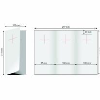 Door hanger 1/3 A4 (deschis A4) - trifold stanta cruce