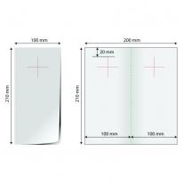 Door hanger 1/3 A4 (deschis 20x21cm) - bifold stanta cruce
