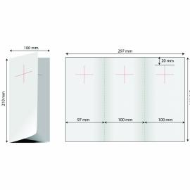 Door hanger 1/3 A4 (deschis A4) - trifold stanta cruce 2