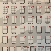 Etichete autocolante din hârtie predecupate forme standard în coală